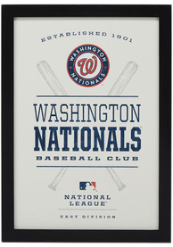 Washington Nationals Framed Team Logo Wall Wall Art