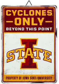 Iowa State Cyclones Property Of Metal Sign