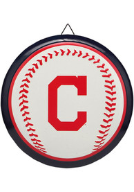 Cleveland Indians Round Baseball Metal Sign