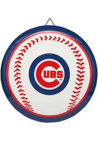 Chicago Cubs Round Baseball Metal Sign