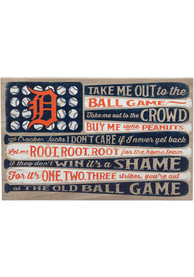 Detroit Tigers Canvas Flag Wall Wall Art
