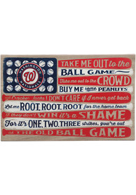 Washington Nationals Canvas Flag Wall Wall Art