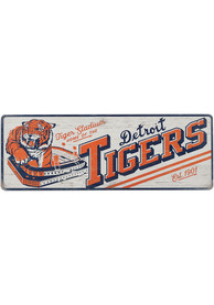 Detroit Tigers Wood Wall Sign