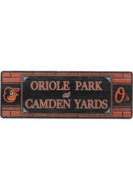 Baltimore Orioles Wood Wall Sign