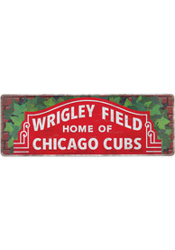 Chicago Cubs Wood Wall Sign