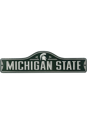 Michigan State Spartans Metal Street Sign