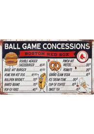 Boston Red Sox Ball Game Concessions Metal Sign