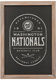 Washington Nationals Club Framed Wood Wall Wall Art