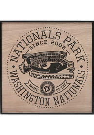 Washington Nationals Stadium Framed Wood Wall Wall Art