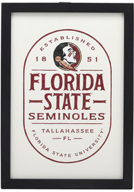 Florida State Seminoles Framed Wood Wall Sign