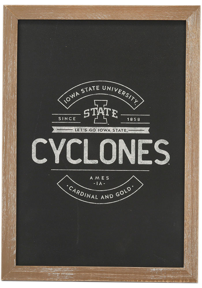 Iowa State Cyclones Framed Wood Wall Sign - Image 1