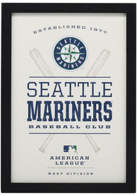 Seattle Mariners Framed Wood Wall Sign
