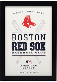 Boston Red Sox Framed Wood Wall Sign
