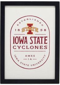 Iowa State Cyclones Framed Wood Wall Sign
