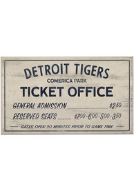 Detroit Tigers Vintage Ticket Office Wall Sign