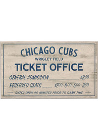 Chicago Cubs Vintage Ticket Office Wall Sign