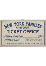 New York Yankees Vintage Ticket Office Wall Sign