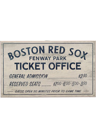 Boston Red Sox Vintage Ticket Office Wall Sign
