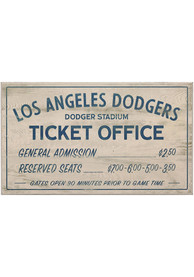 Los Angeles Dodgers Vintage Ticket Office Wall Sign