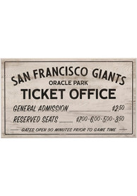 San Francisco Giants Vintage Ticket Office Wall Sign