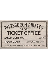 Pittsburgh Pirates Vintage Ticket Office Wall Sign