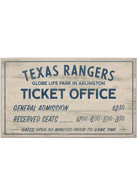 Texas Rangers Vintage Ticket Office Wall Sign