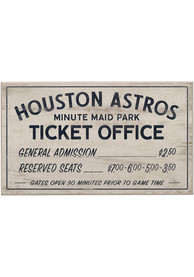 Houston Astros Vintage Ticket Office Wall Sign