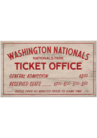 Washington Nationals Vintage Ticket Office Wall Sign