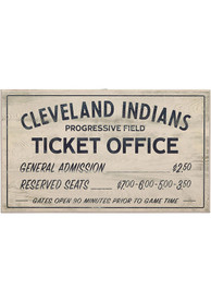 Cleveland Indians Vintage Ticket Office Wall Sign