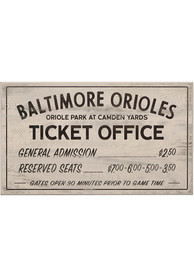Baltimore Orioles Vintage Ticket Office Wall Sign