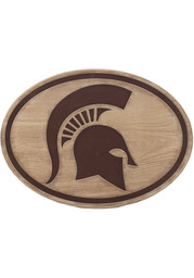 Michigan State Spartans Logo Wood Wall Sign