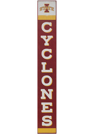 Iowa State Cyclones Vertical Wood Wall Sign