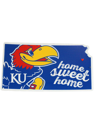 Kansas Jayhawks Home Sweet Home State Sign