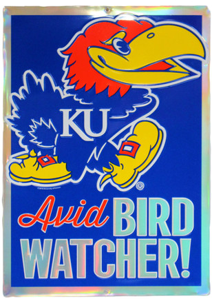 Kansas Jayhawks Avid Bird Watcher Prismatic Sign
