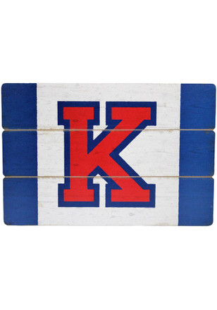 Kansas Jayhawks Gameday Flag Plank Sign