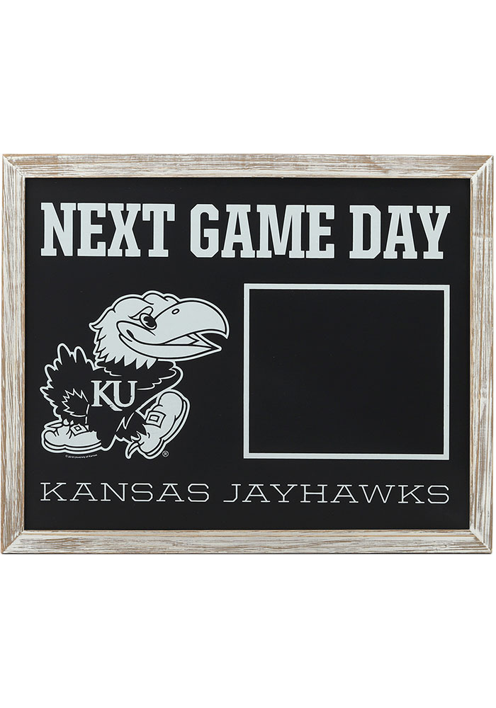 Kansas Jayhawks Framed Chalkboard Sign