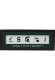 Michigan State Spartans Framed Glass Wall Art
