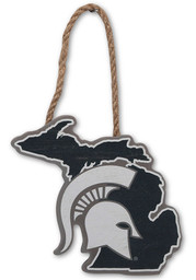 Michigan State Spartans Hanging Wood Sign