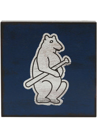 Chicago Cubs Deep Wood Block Sign