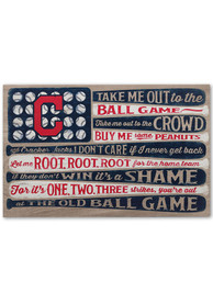 Cleveland Indians Flag Stretched Canvas Sign