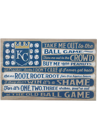 Kansas City Royals Flag Stretched Canvas Sign
