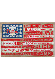 Philadelphia Phillies Flag Stretched Canvas Sign
