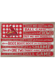 St Louis Cardinals Flag Stretched Canvas Sign