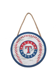 Texas Rangers Hanging Wood Sign