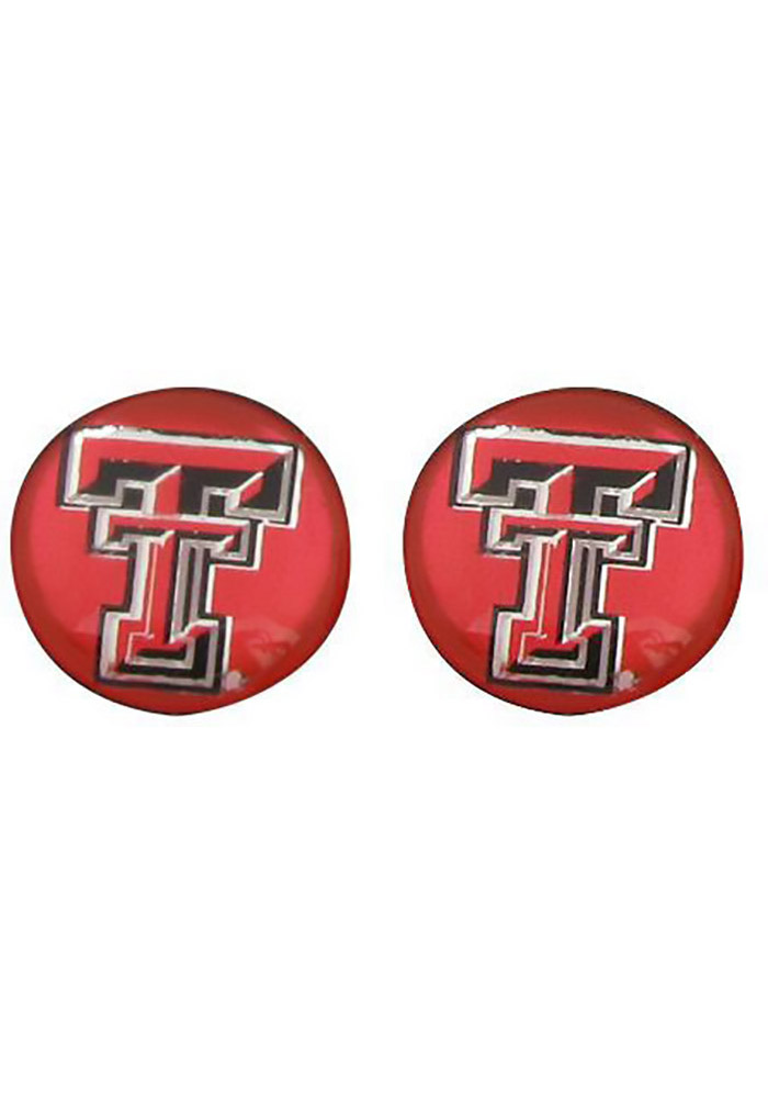 Texas Tech Red Raiders Domed Post Womens Earrings - Image 1