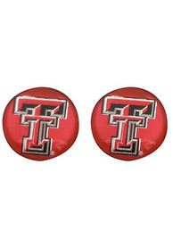 Texas Tech Red Raiders Womens Domed Post Earrings - Red