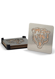 Chicago Bears 4 Pack Stainless Steel Boaster Coaster