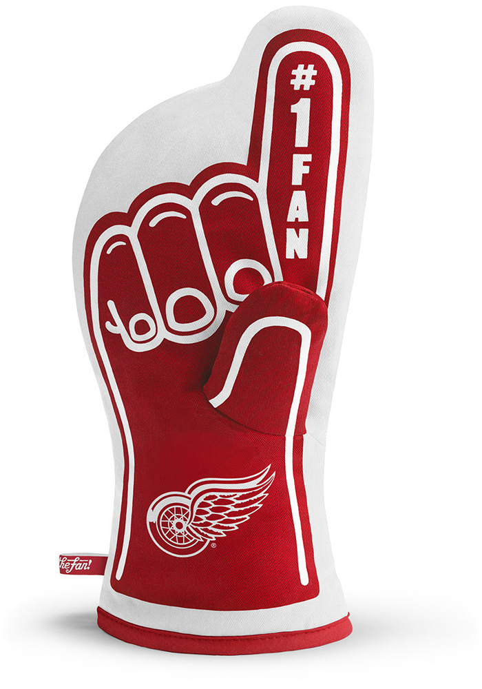 Detroit Red Wings #1 Fan BBQ Grill Mitt - Image 1