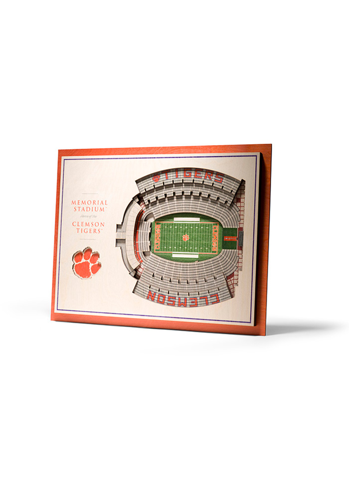 Clemson Tigers 5-Layer 3D Stadium View Wall Art - Image 1