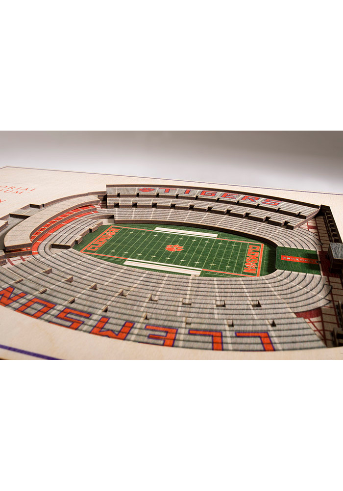 Clemson Tigers 5-Layer 3D Stadium View Wall Art - Image 2